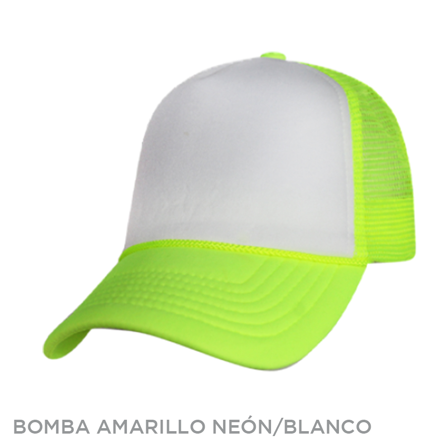 BOMBRA AMARILLO NEON BLANCO